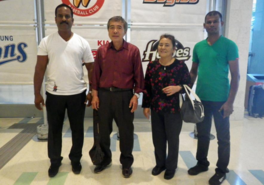 Members of the Tesshinkan Sri Lanka-branch visiting Tamayose Sensei on Okinawa for the first time